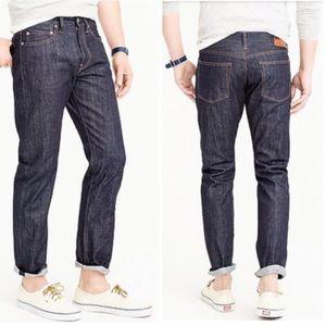 J. Crew 770 Straight Slim Fit Japanese Jeans 33x32